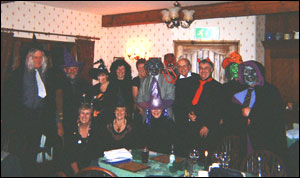 Rotarians from Upper Eden Rotary Club on a Halloween fundraising event