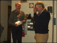 "PP Fred Hayllar completely ""speechless"" after receiving his PHF award from President Roger."