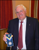 26 June 2009. Colin Jenkinson with his Paul Harris Fellowship medal.