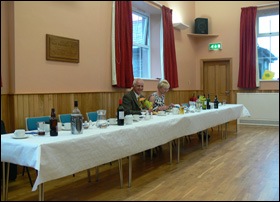 26 June 2009. President Roger and Gill wondering if the top-table are absent
