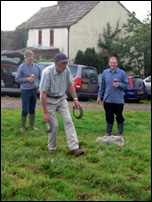 4 August 2009. Arthur Littlefair shows how to throw quoits