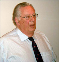 6 October 2009. Guy Potter, Chairman of the Northwich Branch of the RNLI