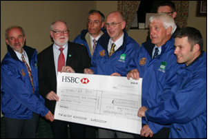 7 October 2009. Eden Valley Rotary Clubs hand over £40,800 to ShelterBox Charity