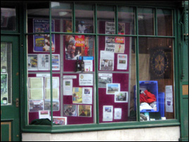 26 January 2010. Display in Cleator's Window, Market Street, Kirkby Stephen.