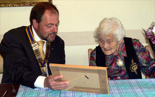 10 September 2010. Nancy Harker's 100th Birthday