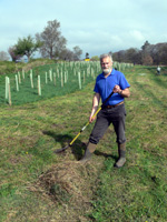16 April 2011. Raking in the sunshine!