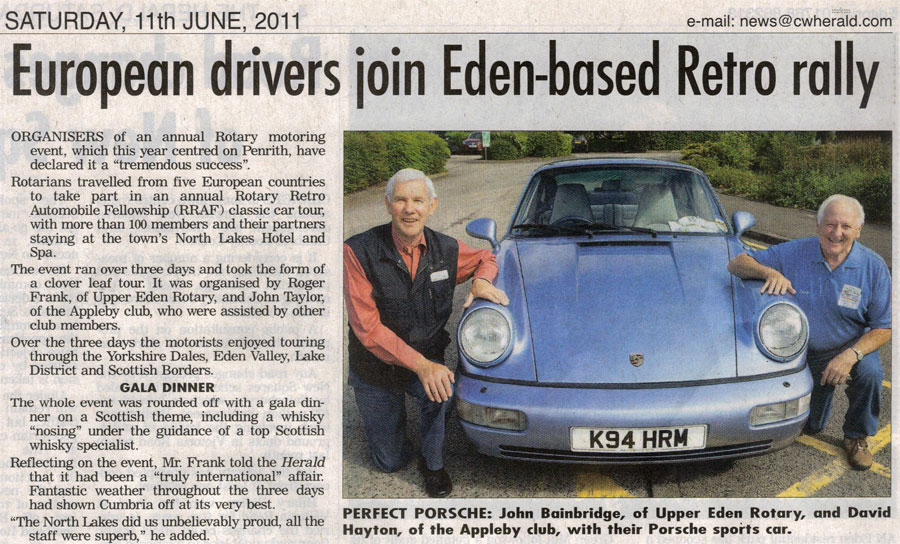 Annual Rotary Retro Rally comes to Eden